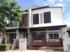 For RentHouseBangna, Lasalle, Bearing : 2 storey detached house for rent, Blue Lagoon Village, Ramkhamhaeng 2, Project 1, beautiful house, 6 air conditioners, fully furnished.