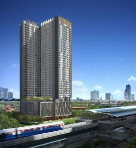 For RentCondoBangbuathong, Sainoi : Casa Condo Bang Yai, next to MRT Sam Yaek Bang Yai, ready to move in, 21 sqm, starting price 7,000 baht Line ID : @likebkk