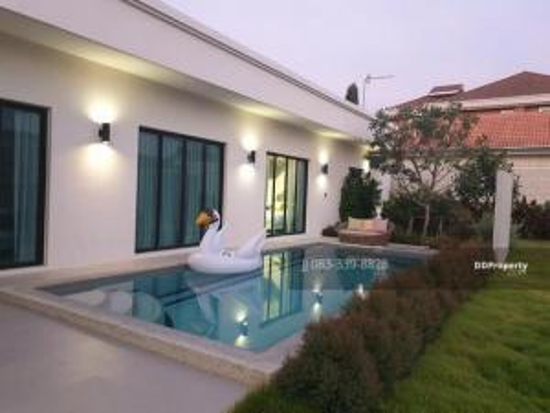 ขายบ้านชะอำ หัวหิน : ขาย Pool Villa Hua-Hin 105 เขาเต่า Pranatarn ปราณาธาร พูลวิลล่า เนื้อที่ 165.7 Sqw. 3beds  ตกแต่งครบพร้อมอยู่