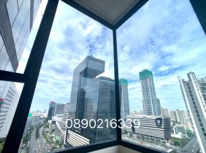 For RentCondoRama9, RCA, Petchaburi : For rent for rent 2 bedrooms, 2 bathrooms, Alpha Building, 2 parking spaces, beautiful view, G Tower, new room, urgent contact.