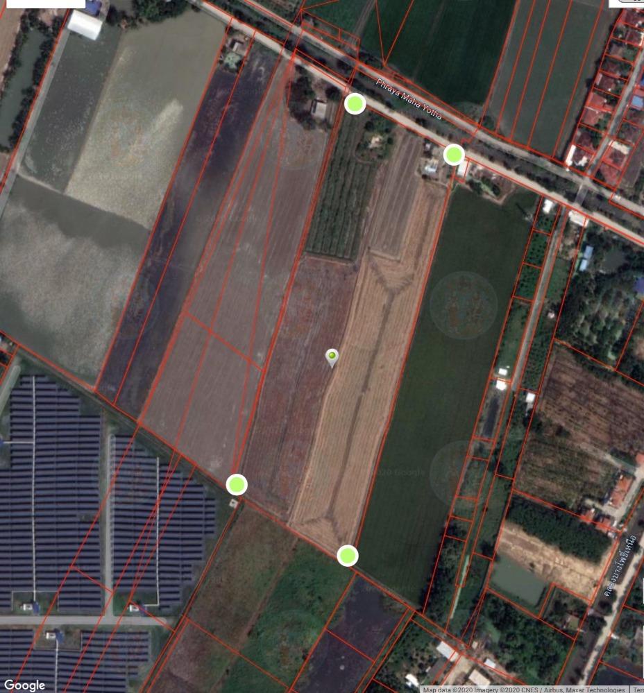 For SaleLandRangsit, Patumtani : Land for sale 26-1-96.9 rai, Ratchapruek road extension (towards Pathum)