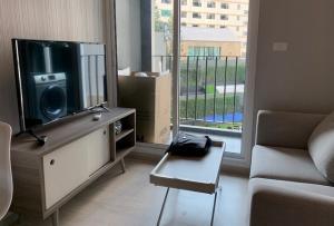 For RentCondoRatchadapisek, Huaikwang, Suttisan : Condo for rent 1 bedroom 30 sq m Chapter One Eco Huai Khwang near MRT Huai Khwang