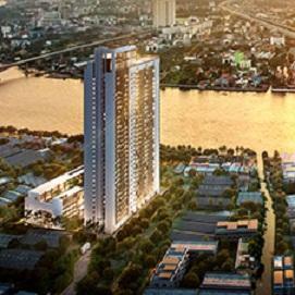 For RentCondoBang Sue, Wong Sawang : Condo for rent, Chapter One Shine, Bang Pho, Chao Phraya River view, ready to move in 23 sqm, starting price 7,000 baht