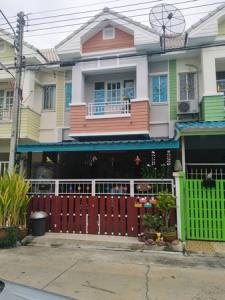 For SaleTownhouseMahachai Samut Sakhon : Townhome, Wiset Suk Village Phase 4, 3 bedrooms, 2 bathrooms, 20 sq m.