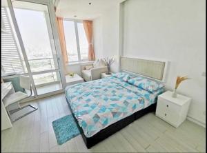 For RentCondoRama9, RCA, Petchaburi : For rent, TC Green Rama 9, cheap price, beautiful view