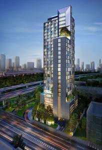 For RentCondoRama9, RCA, Petchaburi : Condo for rent, Chewathai Residence Asoke, near MRT Rama 9, ready to move in, 30 sqm, starting price 19,000 baht