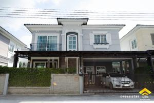 For SaleHouseNawamin, Ramindra : Urgent sale, 2-storey detached house, Golden Neo Ladprao-Kaset Nawamin village, British style, new house ready