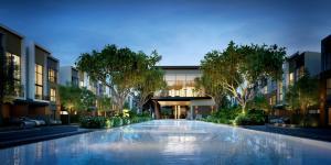เช่าทาวน์เฮ้าส์/ทาวน์โฮมพัฒนาการ ศรีนครินทร์ : ให้เช่าบ้าน Estara Haven พัฒนาการ 20 ขนาด 3 ห้องนอน ราคา 49,000 บาท/เดือน พร้อมเฟอร์นิเจอร์