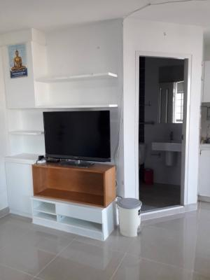 For SaleCondoRama3 (Riverside),Satupadit : Condo for sale, The Trust Ratchada Rama 3, beautiful room, corner room, furniture and appliances, size 30 sqm., 21st floor, price only 1.99 million