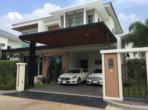 For SaleHouseBangbuathong, Sainoi : 2 storey detached house for sale, Perfect Masterpiece Village, Perfect Masterpiece, Rattanathibet, big house, 90 square meters, fully furnished, very cheap sale