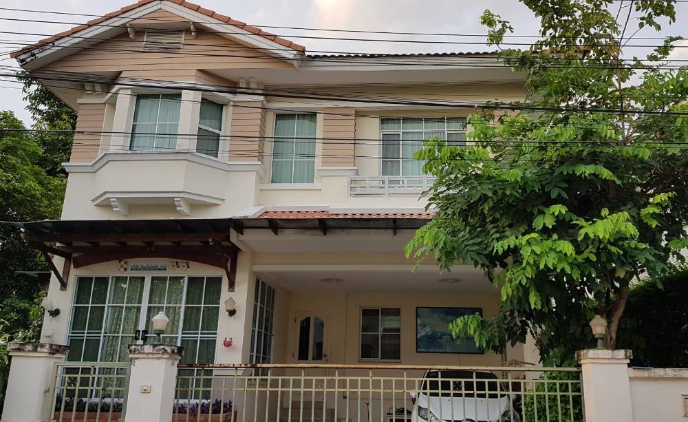 For SaleHouseLadkrabang, Suwannaphum Airport : ขายบ้านเดี่ยวมัณฑนาแปลงมุม 4 ห้องนอน 3 ห้องน้ำ ตกแต่งพร้อมอยู่ สภาพดีมาก