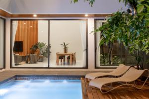 "For SaleHouseChiang Mai, Chiang Rai : H190NS new pool villa house for sale in the heart of Chiang Mai, ""Modern craft tropical Style"" design"