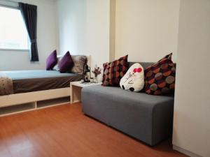 For RentCondoRangsit, Patumtani : Rent a new room, fully furnished, can carry the bag and move in.
