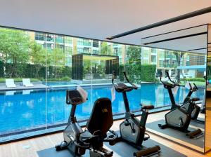 For RentCondoOnnut, Udomsuk : Condo for rent near BTS On Nut, price only 8,000 baht, brand new room, ready to move in.