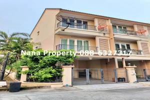 For RentTownhouseKaset Nawamin,Ladplakao : 3-storey townhome for rent on Khlong Lam Chiak Road near Bunthavorn.
