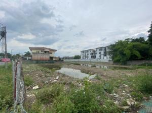 ขายที่ดินเสรีไทย-นิด้า : ขายที่ดิน 4 ไร่ เหมะทำจัดสรร สวนสยาม ซ.24
