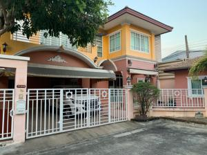 For SaleHouseRama5, Ratchapruek, Bangkruai : Very urgent sale, Pattiya Village, Project 1, Rama 5 Road, beautiful house, good condition, 55 sq m, usable area of 210 sq m, 3 bedrooms, 3 bathrooms, beautiful house, the owner looks very good.