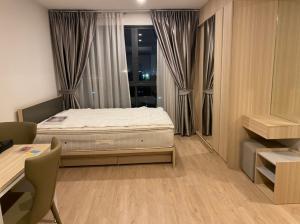 For RentCondoBangna, Lasalle, Bearing : Condo Ideo O2 @BTS Bangna, Size 26.20 sq.m Studio 8th floor Pool View, Fully furnished