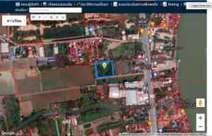 For SaleLandRangsit, Patumtani : Land for sale 4 rai, Pathum Thani Province, near even Chao Phraya water, next to the road