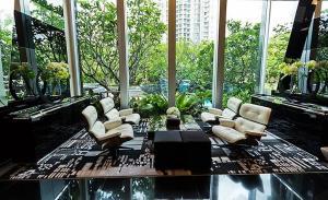 For SaleCondoRama9, RCA, Petchaburi : 大 ♛♞ The Address Asoke ♕❄❄ ((best price) South waterfall view, Floor 16+)) 2 Bed 2 Bath 65 sqm 8.40M 大 ♛♞