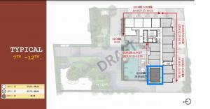 Sale DownCondoRama9, RCA, Petchaburi : Sell The Base Phetchaburi-Thonglor 2-bed, 11th floor, pool view, first round price Siri VVIP