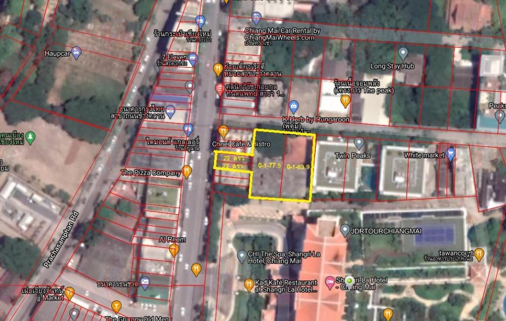 For SaleLandChiang Mai, Chiang Rai : Land for rent / sale With construction, Chang Klan Road, Chiang Mai, 341.4 square wah