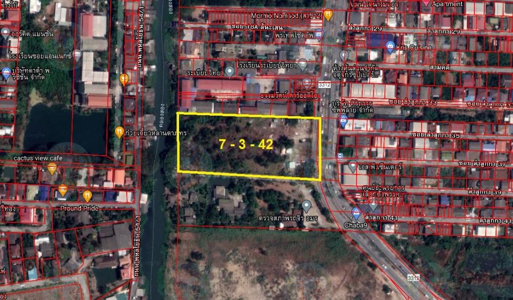 For SaleLandRangsit, Patumtani : Land for sale 7 rai, next to Lam Luk Ka Road