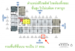 Sale DownCondoKasetsart, Ratchayothin : [Sale] KnightsBridge Space Ratchayothin 37sqm (Duospace) 18Floor South Unblock Fullyfurnished (Free All Transfer)