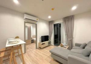 For RentCondoRama9, RCA, Petchaburi : 🎉 Condo for rent, The base garden Rama 9 💕, corner room, 1 bedroom, 20th floor, beautiful view