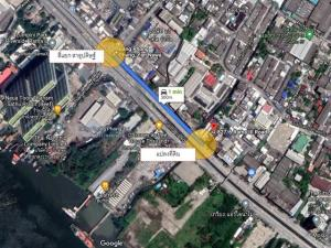 For SaleLandRama3 (Riverside),Satupadit : Beautiful land for sale on Rama 3 Road with old warehouse near Sathupradit intersection, area size 238 sq m.