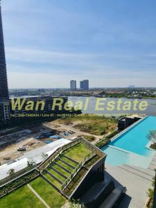 For RentCondoRattanathibet, Sanambinna : For rent, politan aqua, 12A floor, common river garden view, five-star hotel Fully furnished (The new room has never been in)