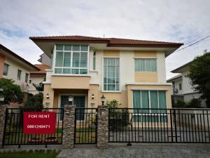 For RentHouseRangsit, Patumtani : House for Rent, Liab Klong 3, Klong Luang-Thanyaburi, just 45000 B.C., Pruksa Village, 17 air conditioners, 5 units + furniture.