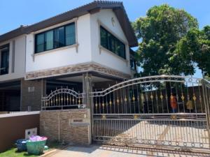 For SaleHouseNawamin, Ramindra : Urgent sale, single house, 2 floors, area of 93.6 sq m. Village Habitia Orbit Hathairat