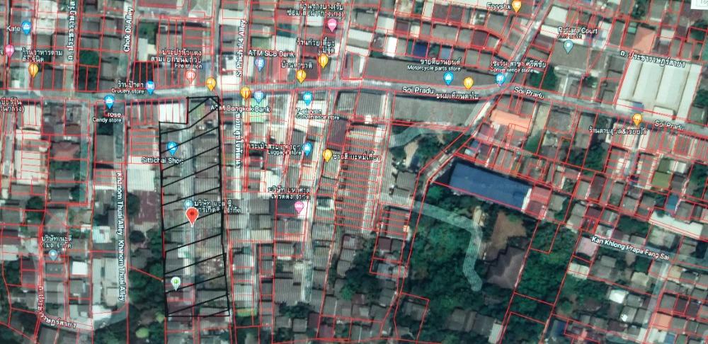 For SaleLandBang Sue, Wong Sawang : Land for sale (filled) 2 rai 3 ngan 76 sq wa, Soi Pradu 1, Pracharat Sai 2, Bang Sue, Bangkok.