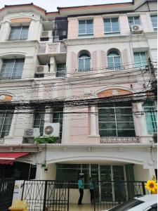 For RentHome OfficeRatchadapisek, Huaikwang, Suttisan : Home office for rent, 4 floors, 32 sq m, usable area 234 sq m. 4 bedrooms, 4 bathrooms, on the road along the expressway, near Town in Town Rent 35,000 / month