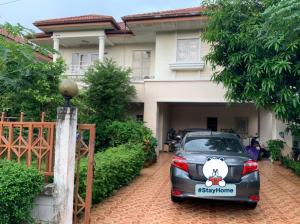 For SaleHouseNawamin, Ramindra : 2 storey detached house for sale, area 83 sq m, the village of the Sweet Garden Ville 2 After the second from the entrance Usable area 222 sq m, Soi Nong Rhaeng, Khlong Sam Wa