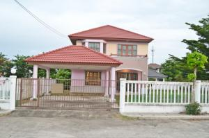For RentHouseBangna, Lasalle, Bearing : 4289 .. For Sale (6,000,000) / Rent (18,000) Single House Chuan Chuen Bangna 115 sq m. Good location on the corner / 4 bedrooms / 2 bathrooms / 2 parking 6395