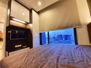 เช่าคอนโดลาดพร้าว เซ็นทรัลลาดพร้าว : 💥💥 ให้เช่า คอนโด เอ็ม ลาดพร้าว แต่งห้อง Muji Minimal ติดBTS และ MRT ตรงข้ามเซนทรัลลาดพร้าว ชั้นสูง วิวสวย 🌈🌈