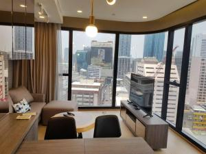 For RentCondoSiam Paragon ,Chulalongkorn,Samyan : Condo for rent: Ashton Chula-Silom, beautiful decoration, good view, fully furnished, next to Sam Yan MRT