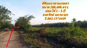 ขายที่ดินนครนายก : ที่ดินแบ่งขายแนวสวนเกษตรผ่อนได้ องครักษ์ นครนายก T.062-1574449