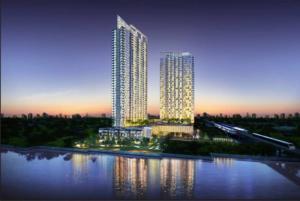 For RentCondoBang Sue, Wong Sawang : Condo for rent, 333 Riverside Bang Pho, beautiful view, north, complete set, large room
