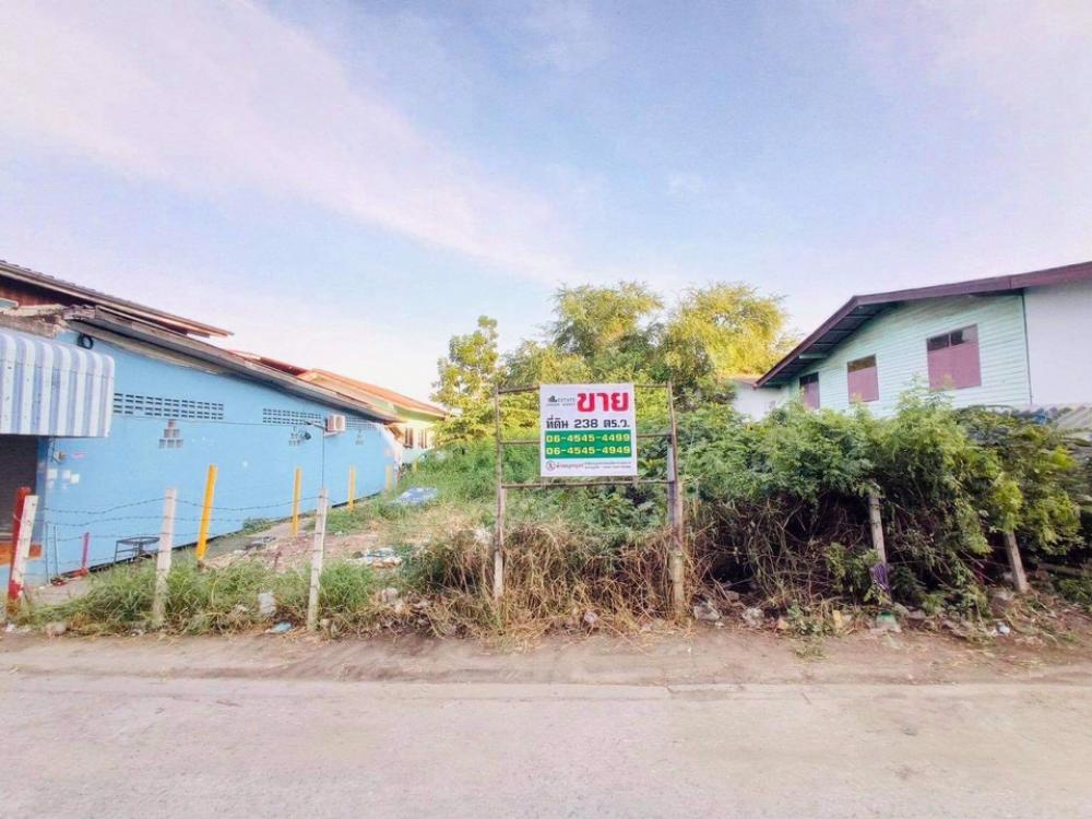 ขายที่ดินสำโรง สมุทรปราการ : ขายที่ดินแหล่งชุมชน ในซอยเทศบาลบางปู 61 (วังปลา) เนื้อที่ 238 ตร.ว. เหมาะทำการค้า อพาร์ทเม้นต์ บ้านเช่า หนือบ้านเดี่ยว