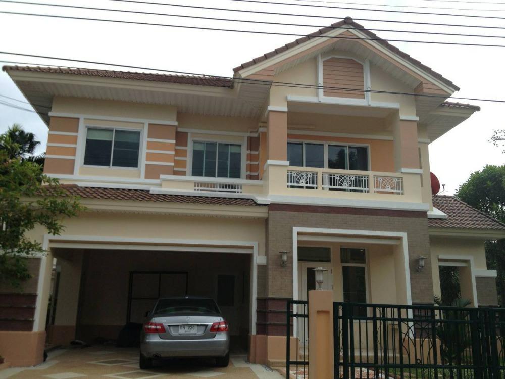 For RentHouseRamkhamhaeng,Min Buri, Romklao : 2 storey detached house for rent, 83 square wa (behind the corner), Ramkhamhaeng Rd. 164, near International School Ruamrudee Withet Suksa (RIS) for rent 45,000 / month