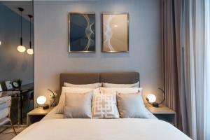 For RentCondoRama9, RCA, Petchaburi : Urgent 🔥 Life Asoke Rama9 Luxury model style, complete electrical appliances 095-249-7892 / 082-459-4297