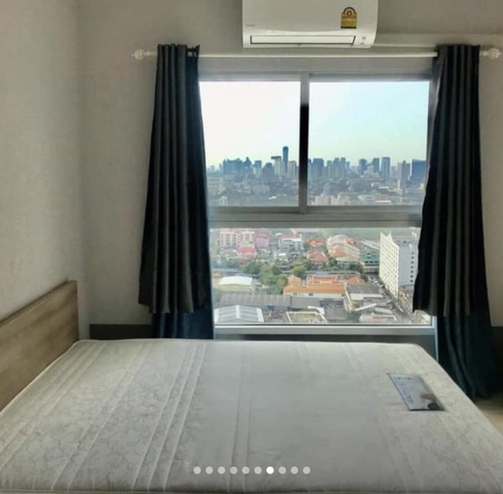 For RentCondoRama9, RCA, Petchaburi : Condo for rent, Plum Ramkhamkeang Station, 2 air conditioners, near Airport Link, room 27 sq.m.