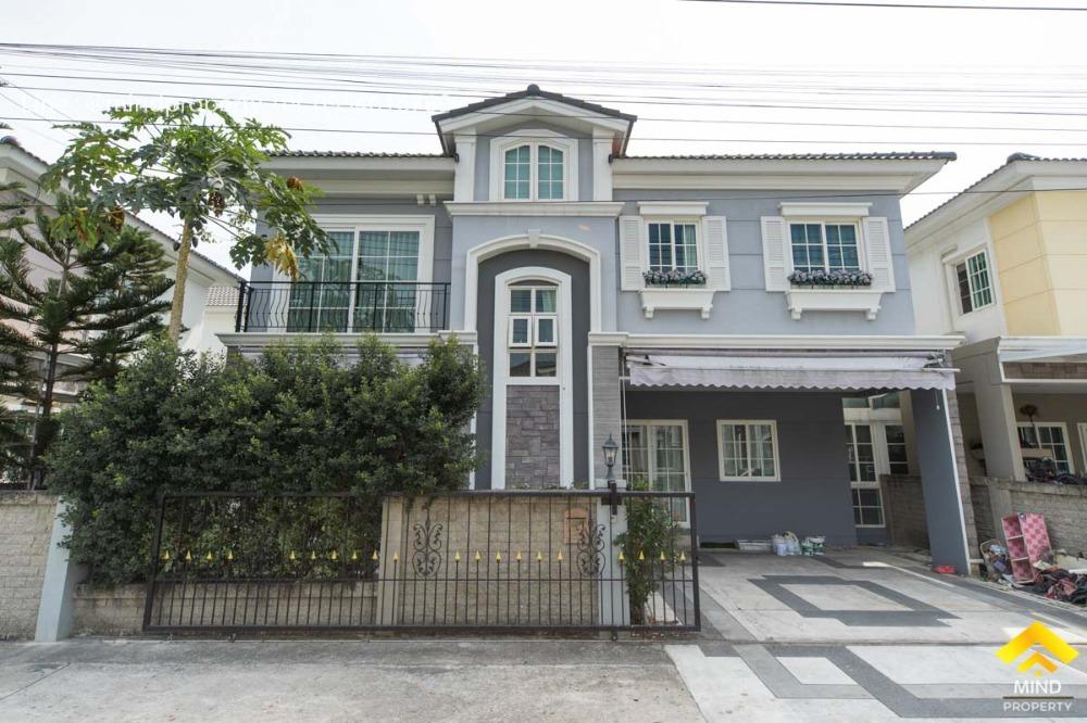 For SaleHouseKaset Nawamin,Ladplakao : Urgent sale, 2-storey twin house, Golden Neo Village, Ladprao - Kaset Nawamin.