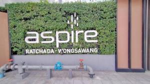 For SaleCondoBang Sue, Wong Sawang : Condo for sale, Aspire Ratchada-Wongsawang, on the road, near the MRT Wong Sawang, cheap.