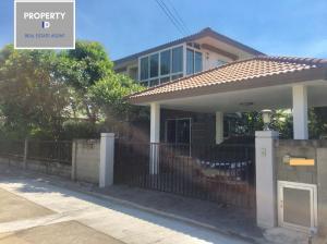 For SaleHouseRangsit, Patumtani : ID2039 For Sale !! Beautiful house with decoration, location near Casa Ville Ramindra-Hathairat (CASA VILLE) from Q HOUSE, convenient transportation, near Ekamai Ramintra Expressway (Chatuchot)