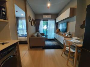 For RentCondoRama9, RCA, Petchaburi : SN312 Condo for rent, Lumpini Suite Phetchaburi-Makkasan, 1 bedroom, very beautiful. ** Real room. Real picture ** There is a stove + hood ** There are not many in the condo. Let's talk first.