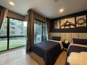 For RentCondoRangsit, Patumtani : 🌿 KAVE TOWN SPACE 🌿 💙 Blue Paris Room 🇫🇷 Twin Bed Room [+ Sofa Bed] 🔹Type 1 Bedroom Extra 30 sqm. 🌟 Very beautiful room. Interested contact Khun Oat ^^ ☎️ Tel: 063 939 7770 📮 Id Line: steveaotka code KTS001